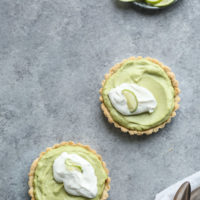 Gluten-Free Key Lime Tart with Avocado Custard and Skyr Whip