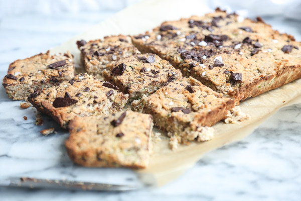 Paleo Vegan Zucchini Bread Recipe with Chocolate Chunks   Made #GlutenFree with Almond Flour, Naturally Sweetened with Banana and Maple Syrup   Feed Me Phoebe