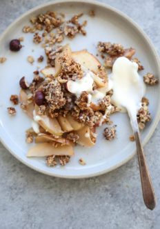 Gluten-Free Apple Crisp Recipe with Spiced Hazelnut Crumble | Easy, Healthy