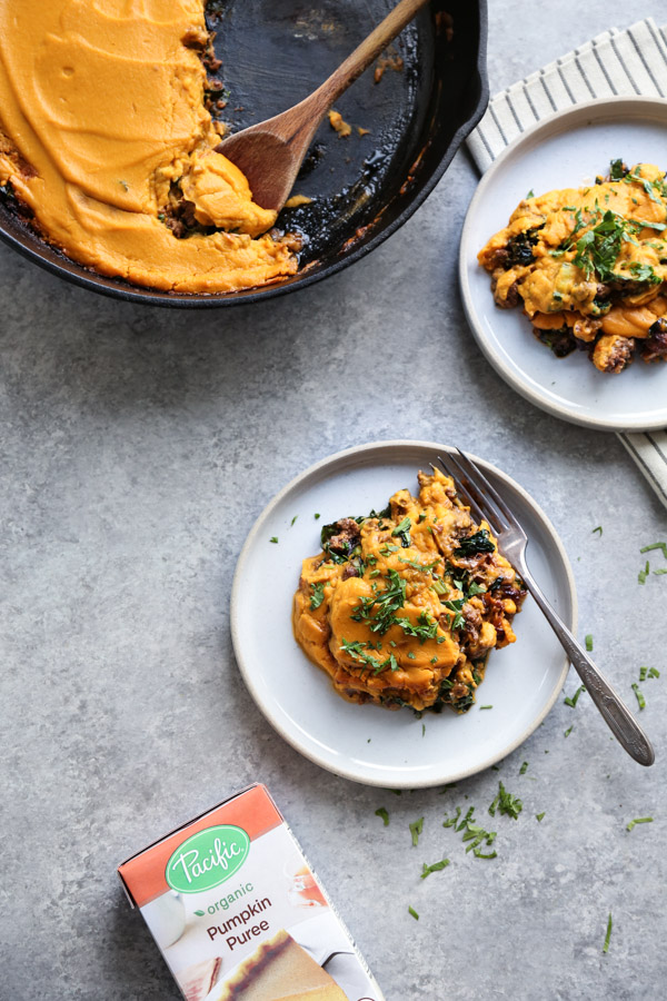 Healthy Shepherd's Pie Recipe with Red Curry Beef, Coconut Kale and Pumpkin Mash | Easy, Gluten-Free, Quick