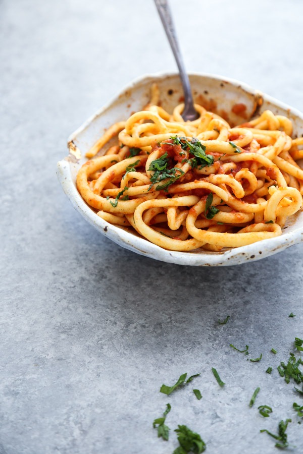 Homemade Gluten-Free Pasta Recipe - Tuscan Pici Spaghetti Noodles , Hand-Rolled!