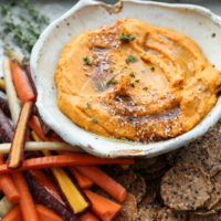 Sweet Potato-Tahini Dip with Za-atar | Easy Thanksgiving Appetizer Recipe