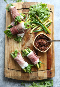 Twigs in a Blanket with Sundried Tomato Pesto