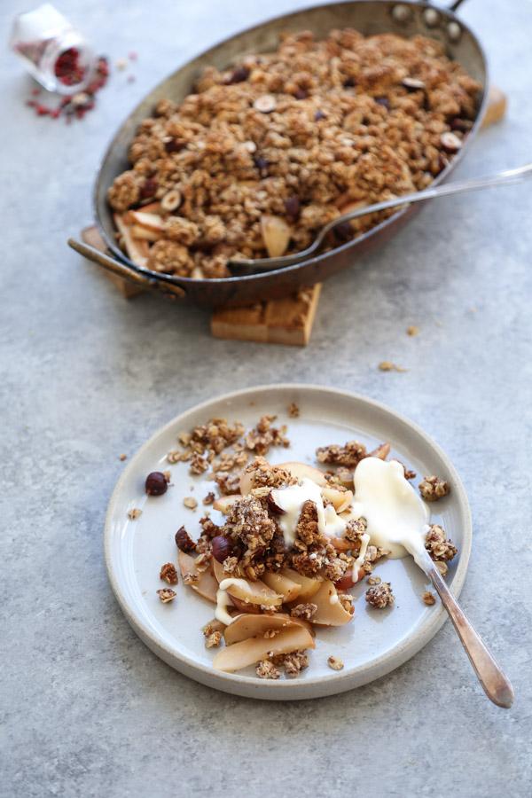 Gluten Free Apple Crisp Recipe With Hazelnut Crumble Healthy