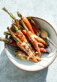 Sesame-Ginger Roasted Whole Carrots