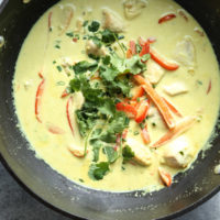 Quick Thai Green Curry Chicken with Homemade Paste (Low FODMAP)