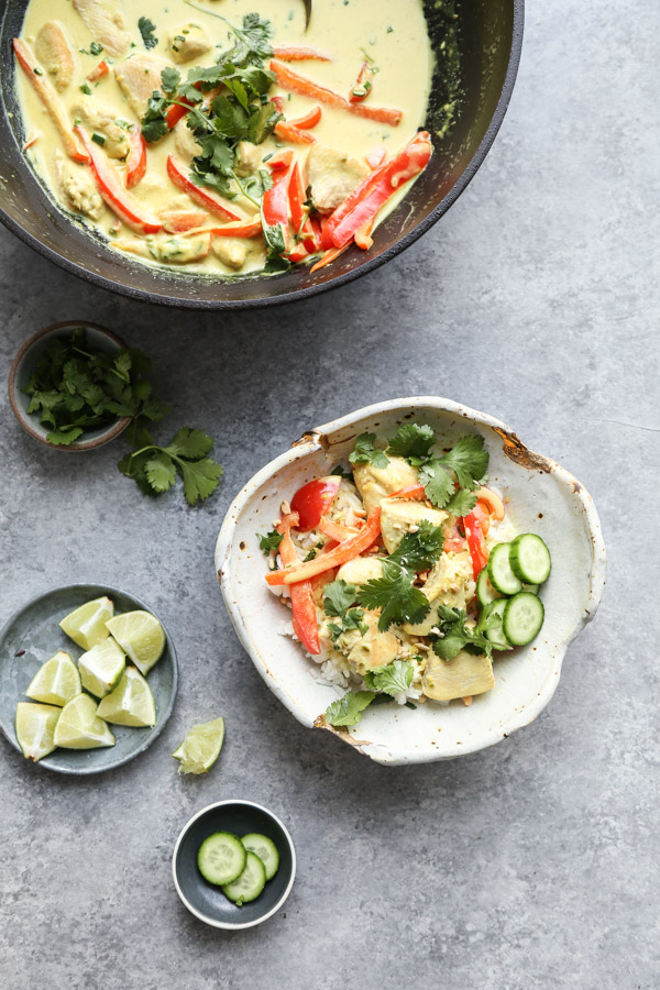 Thai Green Curry Chicken Bowl Recipe