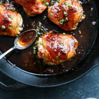 One Pan Korean Spicy Chicken Thighs with Gluten-Free Gochujang Sauce