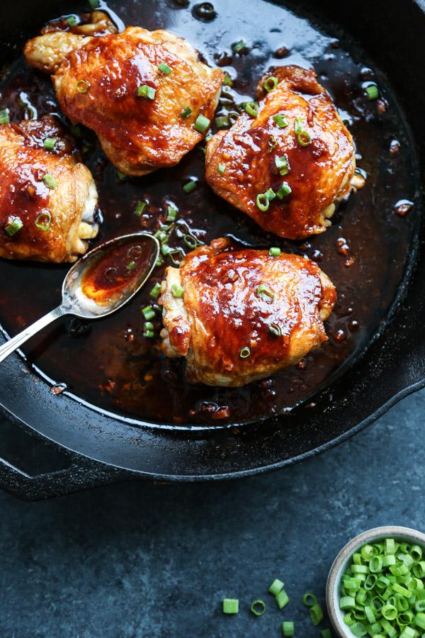Korean Spicy Chicken Thighs Recipe With Gochujang Sauce Gluten Free