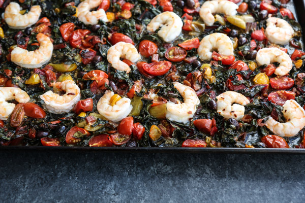 Sheet Pan Shrimp Puttanesca Recipe with Cherry Tomatoes ...