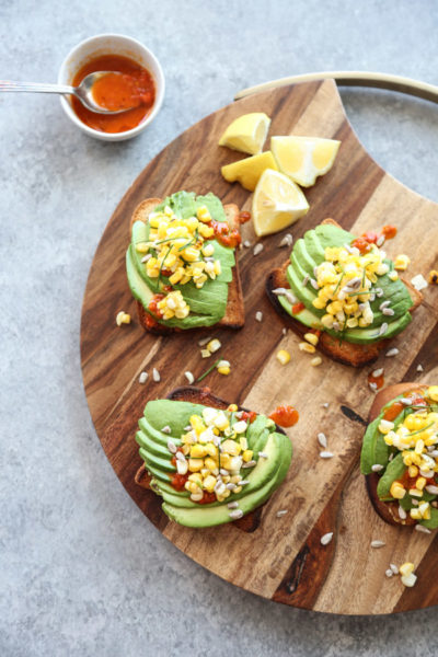 The Best Avocado Toast Recipe With Charred Corn And Chili