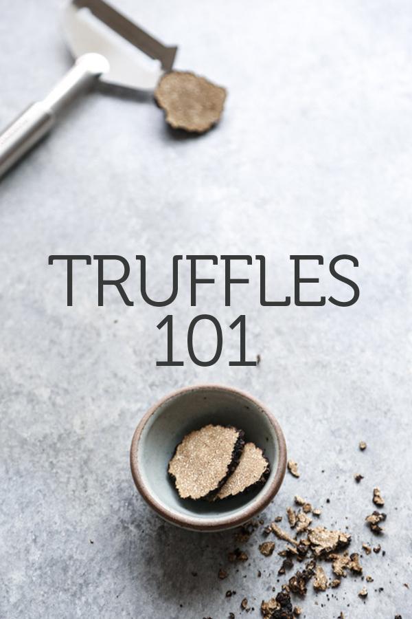 sliced black summer truffle