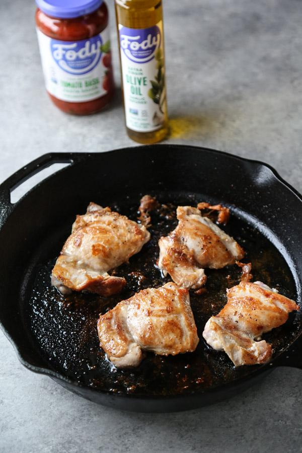 Low Fodmap Chicken Cacciatore In A Skillet Healthy Gluten Free