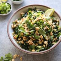 Vegan Nam Khao (Lao Crispy Rice Salad with Greens and Herbs)