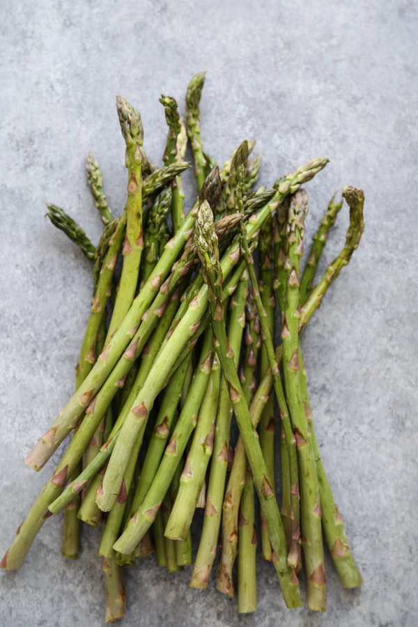 asparagus on a board