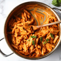 Vegan Penne alla Vodka with Roasted Carrot-Tomato Sauce (Low FODMAP)