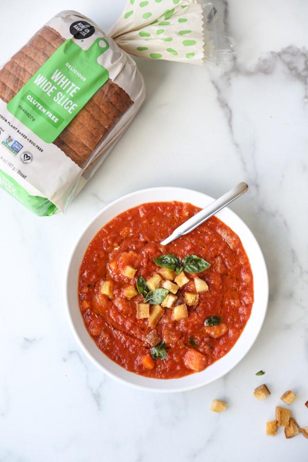 pappa al pomodoro tuscan tomato soup in a bowl