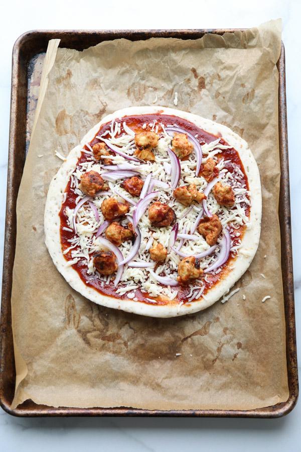 Faux Vegan BBQ Chicken Pizza Recipe
