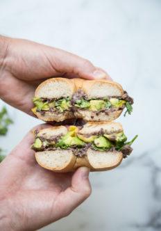 gluten-free bagel sandwiches