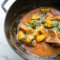 Mild and Creamy Butterless Butter Chicken (Low FODMAP)