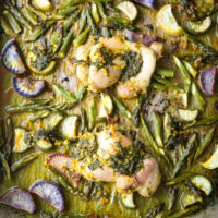 Sheet Pan Ginger-Turmeric Chicken with Asparagus and Radishes (AIP & Low FODMAP optional)