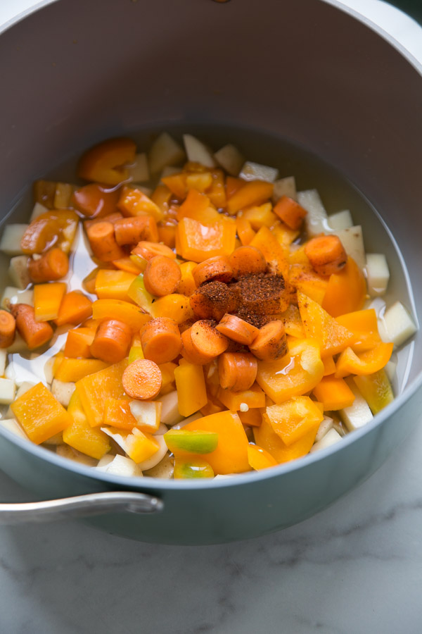 Vegan Queso Sauce in a Pan