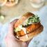 Cauliflower Sweet Potato Burgers with Avocado and Sriracha Aioli (Vegetarian Paleo)