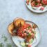 Dill Pickle Salmon Ceviche with Gluten-Free Bagel Chips