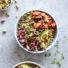 Moroccan Quinoa Bowls with Honey-Harissa Carrots and Chermoula Sauce